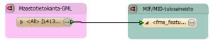 Maastotietokanta-GML MIF/MID:iksi.